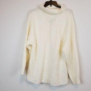 Topshop chunky cream turtleneck sweater size 10